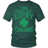 Spanish - Lucky Charms - District Unisex Shirt / Dark Green / S - 3