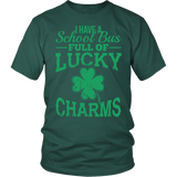 School Bus Driver - Lucky Charms - District Unisex Shirt / Dark Green / S - 3