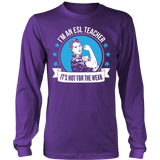 ESL - Not For The Weak - District Long Sleeve / Purple / S - 5