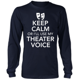 Theater - Keep Calm Voice - District Long Sleeve / Navy / S - 6