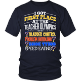 Teacher - Teacher Olympics - District Unisex Shirt / Navy / S - 4