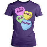 Teacher - Candy Hearts Children - District Made Womens Shirt / Purple / S - 10