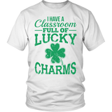 Teacher - Lucky Charms - District Unisex Shirt / White / S - 2