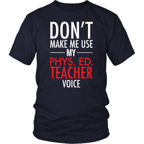 Phys Ed - Voice - District Unisex Shirt / Navy / S - 1