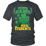 Teacher - St. Patrick's Day Students - District Unisex Shirt / Charcoal / S - 4