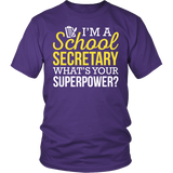 Secretary - Superpower - District Unisex Shirt / Purple / S - 1