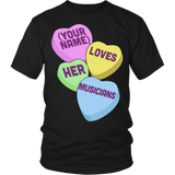 Music - Candy Hearts - District Unisex Shirt / Black / S - 5