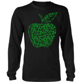 Teacher - Apple Clovers - Broken - District Long Sleeve / Black / S - 7