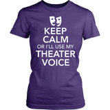 Theater - Keep Calm Voice - District Made Womens Shirt / Purple / S - 10