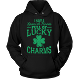 Spanish - Lucky Charms - Hoodie / Black / S - 8