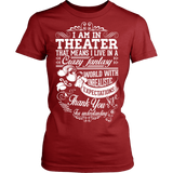 Theater - Crazy Fantasy - District Made Womens Shirt / Red / S - 12