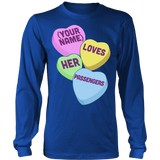 School Bus Driver - Candy Hearts - District Long Sleeve / Royal Blue / S - 6