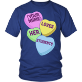 Teacher - Candy Hearts Students - District Unisex Shirt / Royal Blue / S - 2