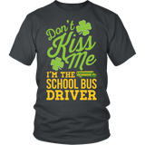 School Bus Driver - Don't Kiss Me - District Unisex Shirt / Charcoal / S - 2
