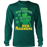 School Bus Driver - St. Patrick's Day Her Passengers - District Long Sleeve / Dark Green / S - 7