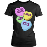 Teacher - Candy Hearts Kids - District Made Womens Shirt / Black / S - 9