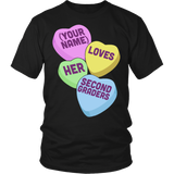 Second Grade - Candy Hearts - District Unisex Shirt / Black / S - 5