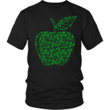 Teacher - Apple Clovers - Broken - District Unisex Shirt / Black / S - 5