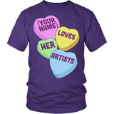 Art - Candy Hearts - District Unisex Shirt / Purple / S - 4