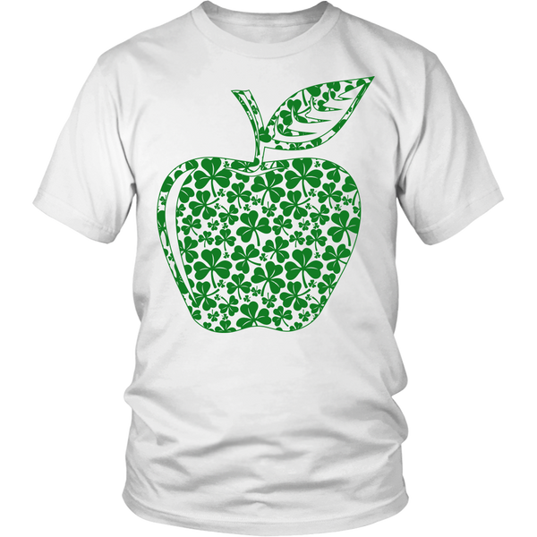 Teacher - Apple Clovers - District Unisex Shirt / White / S - 1