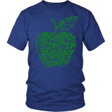Teacher - Apple Clovers - Broken - District Unisex Shirt / Royal Blue / S - 2