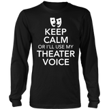 Theater - Keep Calm Voice - District Long Sleeve / Black / S - 7