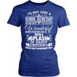 Secretary - Big Cup - District Made Womens Shirt / Royal / S - 11