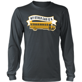 School Bus Driver - My Other Car - District Long Sleeve / Charcoal / S - 7