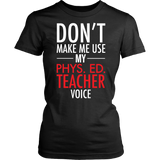 Phys Ed - Voice - District Made Womens Shirt / Black / S - 10