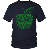 Teacher - Apple Clovers - Broken - District Unisex Shirt / Navy / S - 3