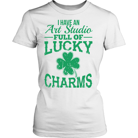 Art - Lucky Charms - District Made Womens Shirt / White / S - 1