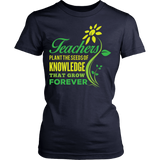 Teacher - Seeds of Knowledge - District Made Womens Shirt / Navy / S - 1