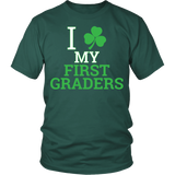 First Grade - Clover - District Unisex Shirt / Dark Green / S - 4