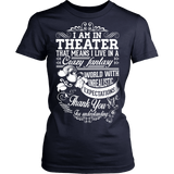 Theater - Crazy Fantasy - District Made Womens Shirt / Navy / S - 13