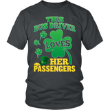 School Bus Driver - St. Patrick's Day Her Passengers - District Unisex Shirt / Charcoal / S - 4