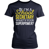 Secretary - Superpower - District Made Womens Shirt / Navy / S - 13