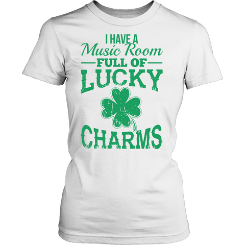 Music - Lucky Charms - District Made Womens Shirt / White / S - 1