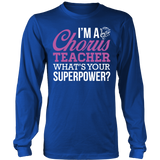Chorus - Superpower - District Long Sleeve / Royal Blue / S - 6