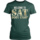 SAT Boot Camp - District Made Womens Shirt / Forest Green / S - 12