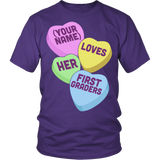 First Grade - Candy Hearts - District Unisex Shirt / Purple / S - 4
