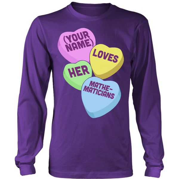Math - Candy Hearts - District Long Sleeve / Purple / S - 8