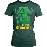Teacher - St. Patrick's Day Students - District Made Womens Shirt / Forest Green / S - 14