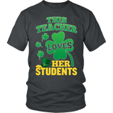 Teacher - St. Patrick's Day Her Students - District Unisex Shirt / Charcoal / S - 4