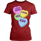 Teacher - Candy Hearts Kids - District Made Womens Shirt / Red / S - 14