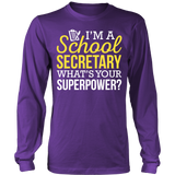 Secretary - Superpower - District Long Sleeve / Purple / S - 5