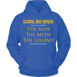 School Bus Driver - The Man The Myth - Hoodie / Royal Blue / S - 12
