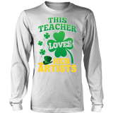 Art - St. Patrick's Artists - District Long Sleeve / White / S - 4