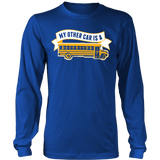School Bus Driver - My Other Car - District Long Sleeve / Royal Blue / S - 6