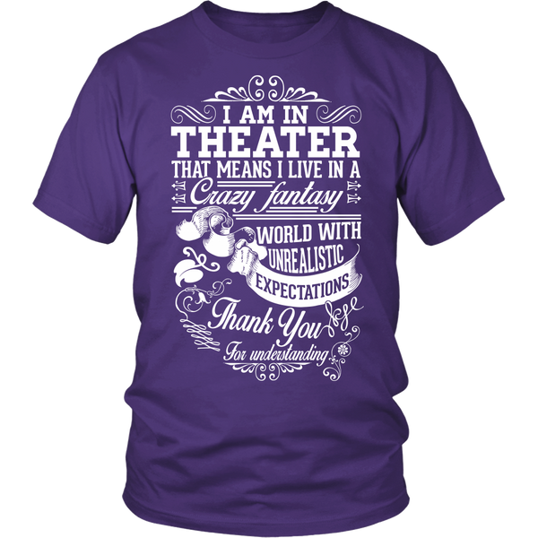 Theater - Crazy Fantasy - District Unisex Shirt / Purple / S - 1