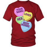 Librarian - Candy Hearts - District Unisex Shirt / Red / S - 3
